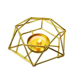 iron stands UK - Candle Holder Flower Stand Aromatherapy Stove Stand Eternal Flower Iron Candle Holder Golden Decoration Candle Holder Wedding De