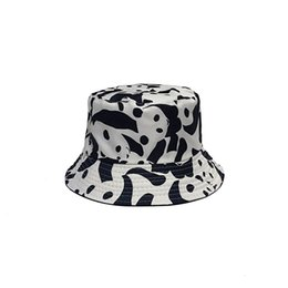 ebd0cd6b18a9a Bucket Hats Women Sun Shading Panda Embroidered Fisherman Hat Korean luxury  caps Style Solid Casual Man s Wild Trendy Visor