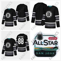 39ee90d46 Cheap 2019 All Star Jersey Boston Bruins Men 88 David Pastrnak Mens Black  Blank Top Quality 2019 All-Star Patch Hockey Jersey