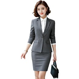 $enCountryForm.capitalKeyWord UK - Women business suits long sleeve skirt suits elegant office ladies suit Simple and slim pants for female work clothes