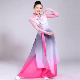 729408b732143 2019 New Hot Classical Dance Costumes Female Chinese Style Adult Fan Dance  Performance Clothing National Clothes