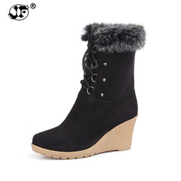 $enCountryForm.capitalKeyWord UK - 2018 Fashion Lace up Half Knee High Boots High Heels Wedges Spring Autumn Shoes Rabbit Fur Uppers Platform Lace Up Winter Boots9