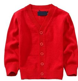 Cardigan Cotton Girls Australia - Candy Colors Autumn Spring Kids Cardigan 2019 Fashion Boy Sweaters Cotton Baby Girls Single-breasted Jacket Kids School Clothes