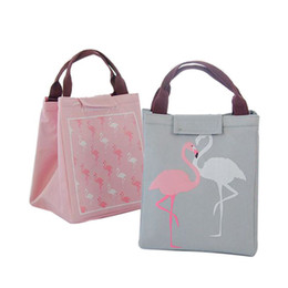 Kitchen Picnic Australia - ome Organization Storage Bags Hoomall Cartoon Waterproof Food Storage Bag Flamingo Picnic Cold Insulation Bag Lunch Kitchen Organizer Pa...