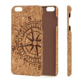febaa33b0b8d4 UI Blank Cork Wood Чехол для телефона для iPhone 6 6s 7 8 X 6Plus 7Plus  Hard PC Back Грязезащитный Защитный чехол для мобильного телефона