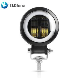 Discount amber flood lights - 20W LED Driving Work Light Motorcycle Spotlight Flood Light Amber Fog Lamps