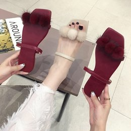 $enCountryForm.capitalKeyWord UK - Pretty2019 Cool Bottom Flat Slipper Woman Other Clothes Summer Baby Ball One The Word Drag All-match Ins Women's Shoes