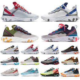 games for soccer NZ - Top Fashion React Element 87 Volt 55 Game Royal Taped Seams Running Shoes For Women men 55s Blue Chill Trainer 87s Sail Sneakers