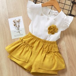 $enCountryForm.capitalKeyWord Australia - Girls summer clothes sets kids fashion cotton sleeveless tops+short pants 2pcs tracksuits for baby girls children casual clothing sets