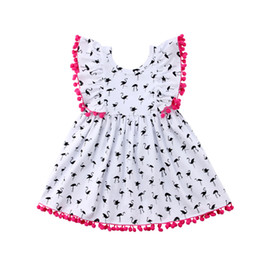$enCountryForm.capitalKeyWord UK - 95% Cotton Girls Dresses With Ruffle Trim And Back Botton Up Design Cute And Comfortable A-line Skirt Kid Designer Clothes Girls
