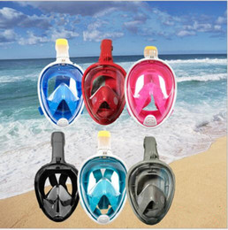 big train toys Canada - Underwater Diving Mask Snorkel Set Swimming Training Water Fun Full Face Snorkeling Mask Anti Fog With Camera Stand Diving Equipment TL496