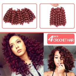 Curl Kinky Crochet Hair Australia - Hot! Jamaican Bounce Wand Curl Crochet Braiding Hair Extension 4Piece lot Synthetic Hair Afro Kinky Curly Crochet Braids For Women