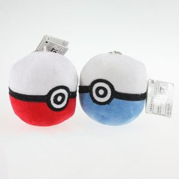 Wholesale Character Soft Toys Australia - Pikachu Ball Plush Kids Toys 3 inch High Quality Soft Plush Toys Children Backpack Pendant Keychains Kids Dolls Gifts Wholesale