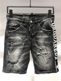 Wholesale patch denim shorts resale online – designer 2020 classic mens casual hole shorts washed old patch pants high quality embroidery denim pants feet pants