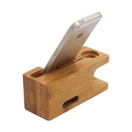 Wholesale 2019 new coming bamboo wooden for iwatch mobile accessories display stand mobile phone stand universal non slip mobile stand