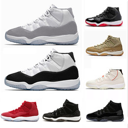 Mens arMy caps online shopping - 2019 Vast Grey Concord High Men Basketball Shoes s Cap and Gown PRM Heiress Bred Platinum Tint Space Jams mens sports Sneakers