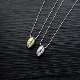 necklaces pendants Australia - Men's and women's titanium steel necklace inspirational phrase fashion accessories bullet shape can be used as perfume bottle pendant