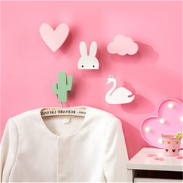 Wholesale wood panda for sale - Group buy GUUUUO Wooden Wall Stickers Wall Hooks Children s Room Decoration Decoration Nordic Style Cute Unicorn Panda Girl Nursery