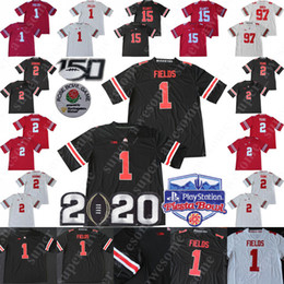 Buckeyes jerseys online shopping - 2020 Playoff TH Ohio State Buckeyes Justin Fields Jersey JK Dobbins Chase Young Nick Bosa Elliott OSU Football Jerseys Men Youth