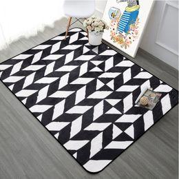 Chair Swivels Australia - Nordic Style Geometric Carpet For Living Room Coffee Table Room Bedroom Rug Soft Kids Play Mat Computer Swivel Chair Cushion