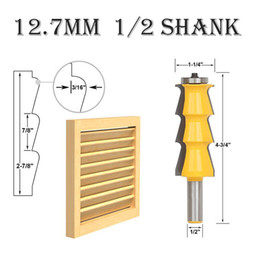 HigH speed cutting tools online shopping - 1 Shank Wood Trimming Tenon Milling Cutter Cutting Tool12 MM Louver Shutter Style Router Bit Woodworking Tool