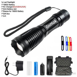 flashlight ultrafire battery Australia - CREE XML-T6 Flashlight Torch 5000 Lumens Bike Light 5modes Torch Zoomable LED Flashlight +18650 Battery + Charger