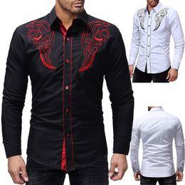 Shirt Korean Designs Australia - 2019new Fashion Brand Camisa Masculina Long Sleeve Shirt Men Korean Slim Design Formal Casual Male Dress Shirt Sizem-3xl