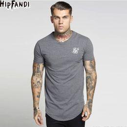 $enCountryForm.capitalKeyWord NZ - Hipfandi Ss Kanye West Sik Silk Men Casual Hip Hop Irregular Curved Hem Short Sleeved T-shirts Black White Gray C19041102