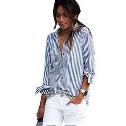 Custom kimono online shopping - New Fashion Big Size Sexy Custom Color Casual Summer Shirt Striped Sleeves Shirt Blouse Female Tn11 Y19071201
