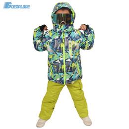 Ski Suits For Children Australia - Goexplore Ski Suit Children 110-160 Baby Girl kids Winter Waterproof Windproof Warm Snowboard Set Snow Jacket And Pants For Boys