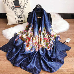 Floral scarFs online shopping - Fashionble Designer Silk Scarf Hot Women Luxury Floral Shawl Scarf Autumn Long Neck Ring Size x90cm High Quality with Gift Box Optional