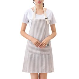 $enCountryForm.capitalKeyWord Australia - Kitchen Aprons For Women Anti Foul Apron Dress Pink gray Pinafore Cooking Accessories Cafe Restaurant Flower Shop Overalls