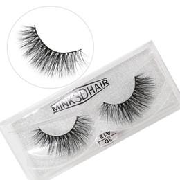 Real Mink False Eyelashes Australia - A12 3D A series 100% Real mink Eye Lashes Thick false Eyelashes a pair of false eyelashes with Crystal box