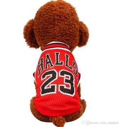 $enCountryForm.capitalKeyWord NZ - Spring and summer fashion Basketball uniform pet dog clothes Breathable vests mesh for teddy dog clothes