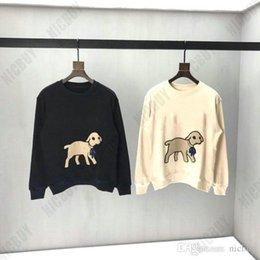 Mens diaMond sweatshirt online shopping - fashion autumn designer Brand mens clothing flocking lamb diamond neck animal red letter hoodies pullover casual cotton sweatshirt