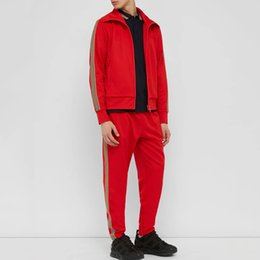 China 19FW Europe Men Women Sweatshirt Suit Brand Embroidery Casual Tracksuit Outwear Pants Jogging Fitness Sport Wear Jacket Pants Set HFYMTZ030 suppliers