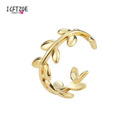 Wholesale 2019 Rose Gold Colour Adjustable Rings Boho Twisted Leaf Silver Toe Ring Bague Fashion Body Jewelry