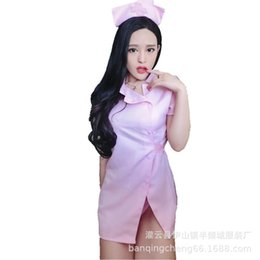 Nurses uNiforms suits online shopping - Night Club DS Skirt Stage Dress Role Playing Interesting Underwear Uniform Attractive Suit Pink Sexy Nurse Dress