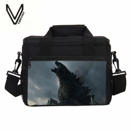insulated lunch bags women 2019 - 3D Printing Monster Godzilla Design Lunch Bag For School Boys Funny Picnic Bags Thermo Insulated Lunchbags For Women Men