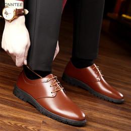 Korean Dressing Styles Australia - Men's Dress Shoes Korean Style Soft Bottom Leisure Breathable Non-slip High Quality Classic Men All-match Simple Retro Shoe 2019