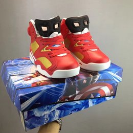Basketball Shoes Stores Australia - Hot iron man kids boys shoes sales  Anime basketball shoes high 83b7f0b75197