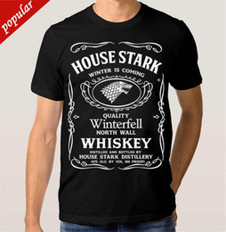 $enCountryForm.capitalKeyWord Australia - New Fashion Style Design T Shirt House Stark Whiskey T-shirt Game Of Thrones GOT Men's Women's Tee Summer Women Girl Funny Anima