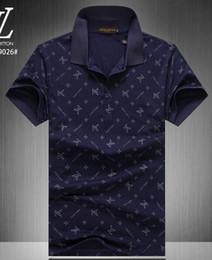70938e5efa7cfe2 Мужская повседневная полосатая футболка 2019 новая мода лацкане рубашки поло  роскошный дизайнер бренд вышивка печать хлопок высокого качества футболка #  ...