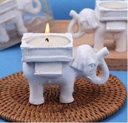 Candle Lit Chandelier Australia - Retro Elephant Tea Light Candle Holder Candlestick Wedding Home Decor Crafts tea light holders tealight holder