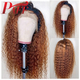 ombre full lace wigs Australia - PAFF glueless full lace wig Ombre Color Curly Human Hair Wigs With Baby Hair Brazilian Remy Hair Lace Wig free Part