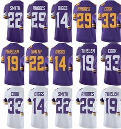 b7c08b249 Minnesota Viking Jersey Mens #33 Dalvin Cook 14 Stefon Diggs 22 HARRISON  SMITH 19 Adam Thielen 29 Rhodes Vapor#Untouchable Limited Jerseys