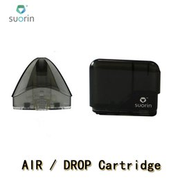 Empty rEfillablE cartridgEs online shopping - 100 Authentic Suorin Drop Cartridge Pods Suorin Air Refillable Pod Replacements Coil Head For Drop and Air Kit MTL Vaping Empty Pod