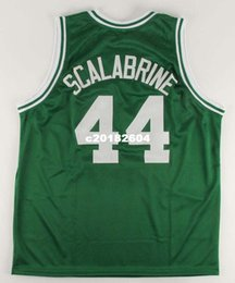 basketball authentic jersey 2019 - 2009-2010 BRIAN SCALABRINE 100% Mesh Free Shipping #44 Number & Name Full Embroidery AUTHENTIC jersey or custom any name