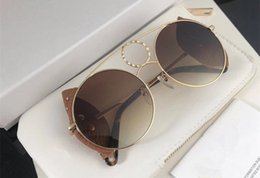 Newest desigN alloy online shopping - 148SL newest lady designer sunglasses round fashion metal sunglass gradient colors original new design come with box