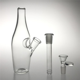 Downstem bongs online shopping - New mm Medium Glass Water Bongs with Inch Bottle mm Female Downstem Bong Bowl Thick Recycler Beaker Bong for Glass Water Pipes